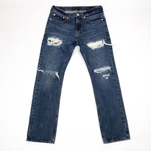 BULLHEAD Distressed Denim Straight Leg Jeans